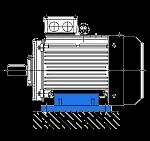 АИР 132 S8 монтажное крепление