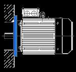 АИР 132 S8 монтажное крепление фланец